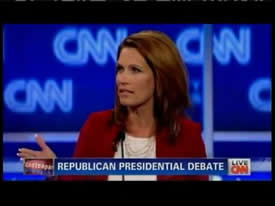 Michele Bachmann at the CNN Debate