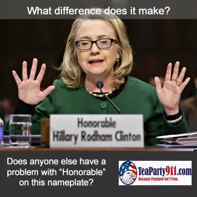 "Hillary Clinton ""What difference does it make?"""