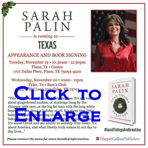 Sarah Palin Comes to Texas
