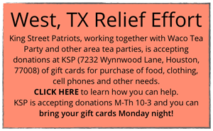 West, Texas Relief Effort