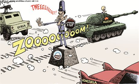 Townhall Obama Foreign Policy Cartoon