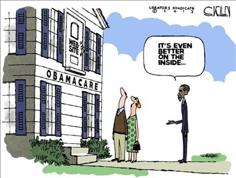 Townhall Obamacare Cartoon