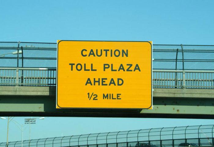 Caution Toll Plaza Ahead