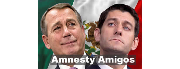 John Boehner and Paul Ryan - The Amnesty Amigos