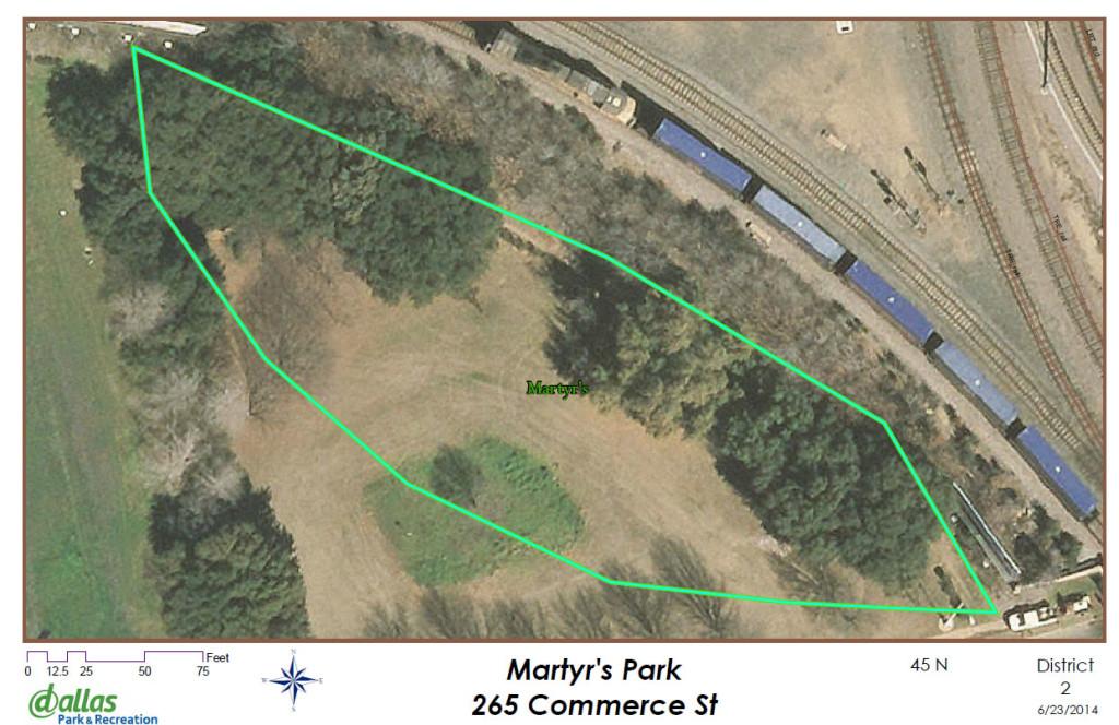 Martyr's Park in Dallas, Texas