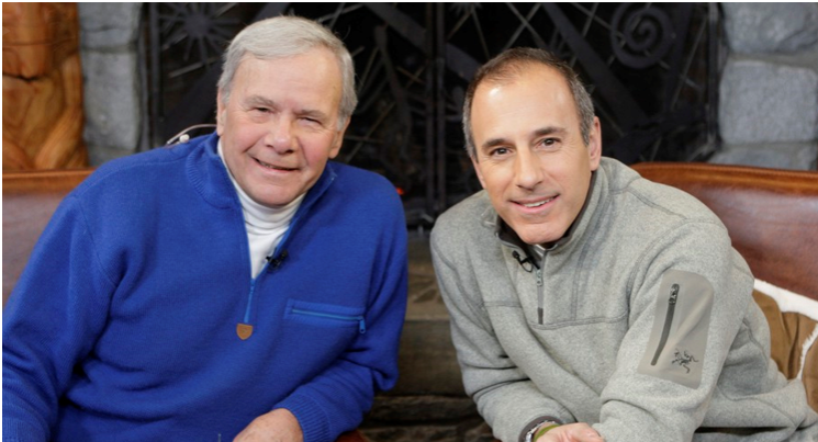 Tom Brokaw and Matt Lauer