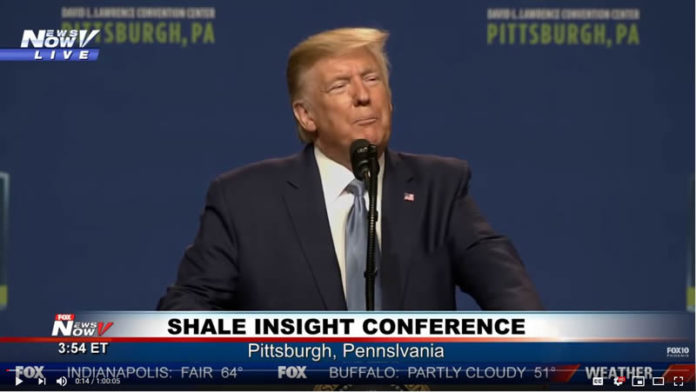 President Trump speaking in Pittsburgh, PA