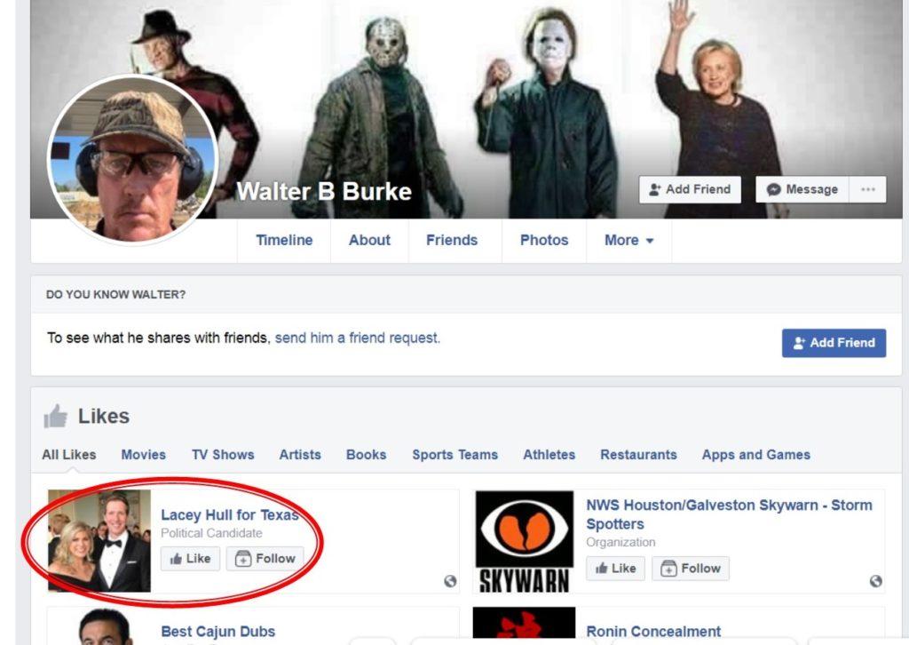 Walter Burke Facebook Likes