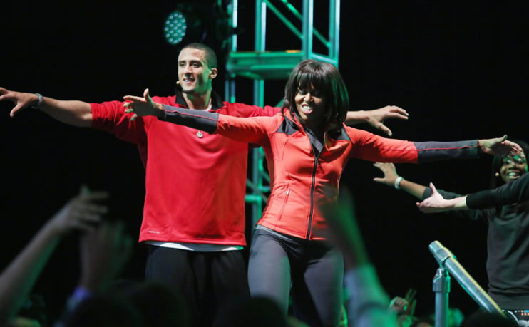 Michelle Obama and Colin Kaepernick Dancing
