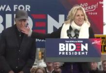 Candidate Joe Biden finger nibbles