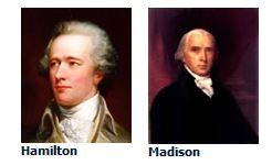 Federalist Papers authors Alexander Hamilton and James Madison