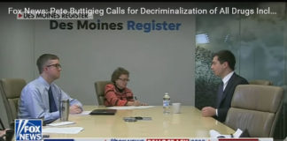 Mayor Pete at Des Moines Register