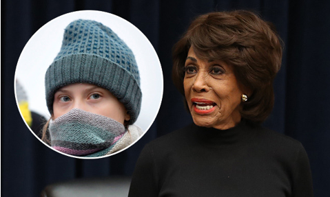 Maxine Waters and Greta Thunberg