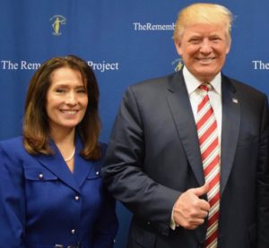 Maria Espinoza, founder of the Remembrance Project alongside President Donald Trump