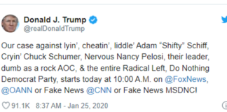 Trump Tweet on Adam Shifty Schiff & Company