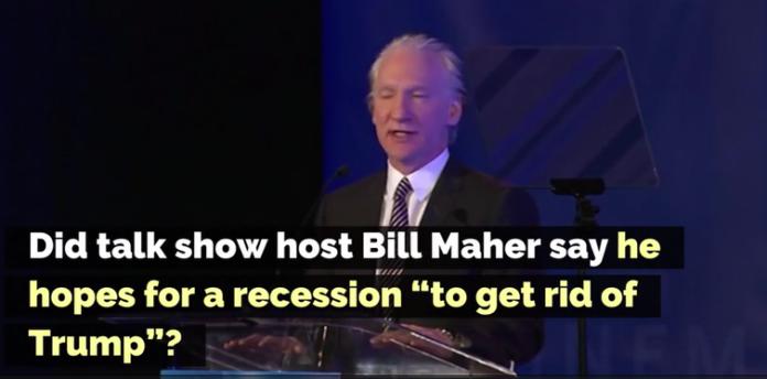 Bill Maher Recession | Bill Maher Trump Protester