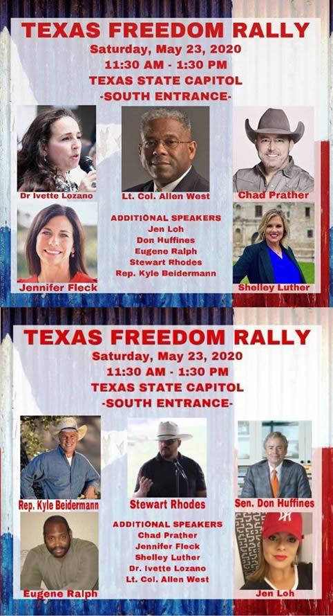 Texas Freedom Rally May 23, 2020