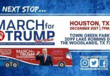 March for Trump Bus Tour Houston