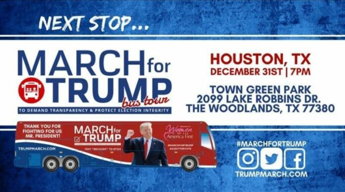 March for Trump Bus Tour Houston