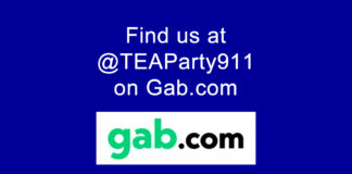 Find us @TEAParty911 on Gab.com!